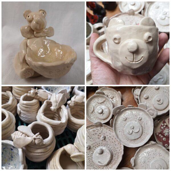 """""""Lāču trauki"""". Attālināto keramikas video nodarbību komplekts bērniem"""