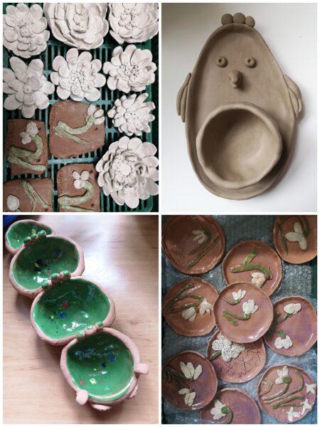 """""""Pavasarīgais"""". Attālināto keramikas video nodarbību komplekts bērniem"""